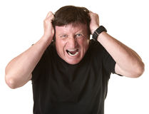 Frustrated Mature Man Royalty Free Stock Photo