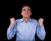 Frustrated Business Man Shaking Fists in Anger Royalty Free Stock Photos