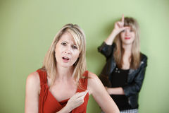 Frustrated Mother Royalty Free Stock Image