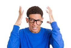 Frustrated nerdy man Royalty Free Stock Photos