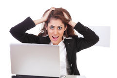 Frustrated office girl royalty free stock photos