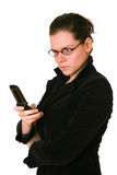 Frustrated Phone Woman Stock Photography