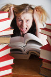 Frustrated reader Royalty Free Stock Image