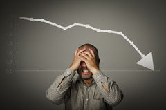 Frustrated. Recession concept Stock Photography