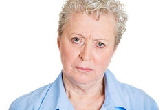 Frustrated senior woman Stock Photography