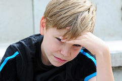 Frustrated soccer fan Royalty Free Stock Photos