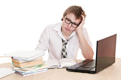 Frustrated student Stock Photo