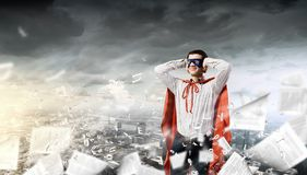 Frustrated superman Royalty Free Stock Images