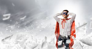 Frustrated superman Royalty Free Stock Image