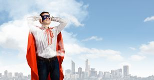 Frustrated superman Royalty Free Stock Photo