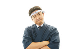 Frustrated sushi chef Royalty Free Stock Images