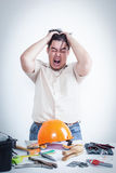 Frustrated technician Stock Image