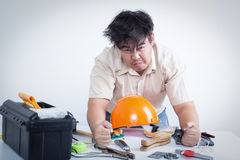 Frustrated technician Stock Photos