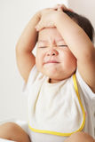 Frustrated toddler expression Royalty Free Stock Images
