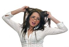 Frustrated woman royalty free stock photography