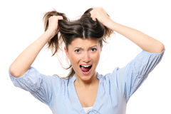 Frustrated woman stock image