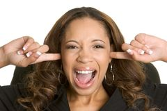 Frustrated Woman. Frustrated angry african american woman Royalty Free Stock Photos