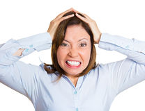 Frustrated woman Royalty Free Stock Photos