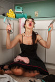 Frustrated Woman Screaming Royalty Free Stock Photography
