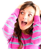 Frustrated woman screaming Stock Photo