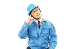 Frustrated worker Stock Image