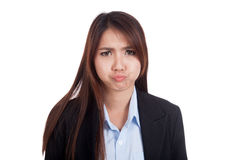 Frustrated  Young Asian businesswoman Stock Image