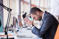 Frustrated young business man Stock Images