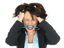Frustrated Young Business Woman royalty free stock photo