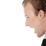 Frustrated young businessman Stock Images