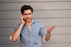 Frustrated young businessman Stock Photography