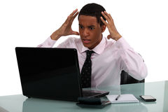 Frustrated young businessman Royalty Free Stock Photos