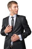 Frustrated young businessman Stock Photos