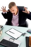 Frustrated young executive Royalty Free Stock Images