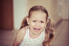 Free Frustrated Young Lady Crying. Emotions And Defiant Age Royalty Free Stock Photos - 182514188