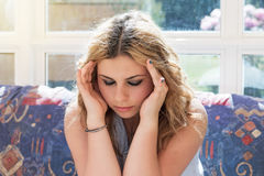 Frustrated young teenage girl Stock Photos