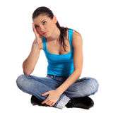 Frustrated young woman Royalty Free Stock Photos