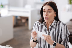 Frustrated young woman trying to sneeze Royalty Free Stock Photography