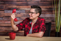 Frustrated Young Women on Phone Stock Image