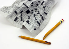 Frustrating Puzzle. Crossword as Concept for Frustrating Problem Royalty Free Stock Images
