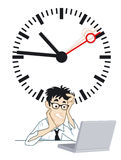 Frustrating time. Wait time frustrating situation, illustration Stock Image