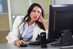 Frustrating Work Stock Image