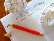 Frustration /B Stock Photography