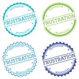Frustration badge isolated on white background. Royalty Free Stock Images