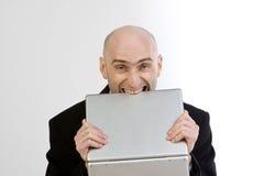 Frustration bei der Arbeit lizenzfreie stockfotos