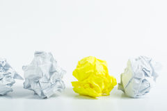 Frustration with Crumpled paper concept Stock Photography