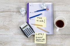 Frustration while doing Tax Returns Royalty Free Stock Photo
