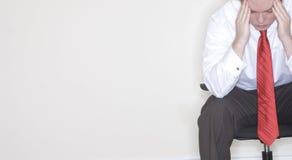 Frustration für Geschäftsmann Lizenzfreies Stockfoto