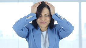 Frustration of Failure, Upset Woman after Huge Loss. 4k , high quality Royalty Free Stock Images