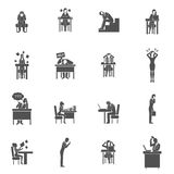 Frustration Icons Set Royalty Free Stock Photography