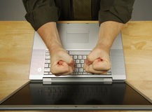 Frustration on the Laptop Royalty Free Stock Photo
